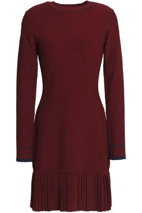 3.1 PHILLIP LIM Pleated ribbed-knit mini dress