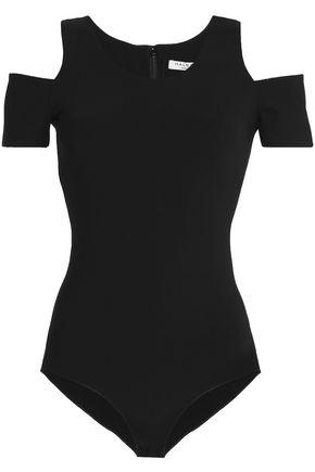 HALSTON Cold-shoulder jersey bodysuit