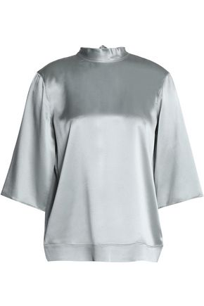 HELMUT LANG Metallic silk-satin top