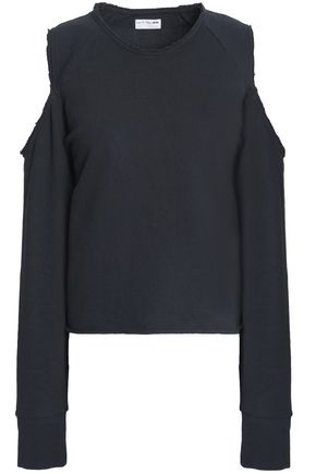 RAG & BONE Cold-shoulder cotton-terry sweatshirt