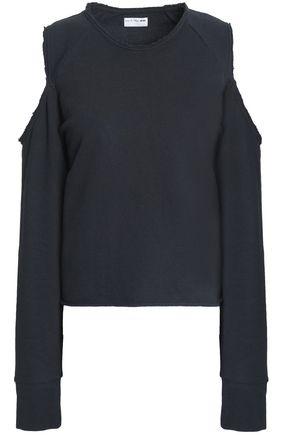 RAG & BONE Cold-shoulder cotton-terry sweatshirt