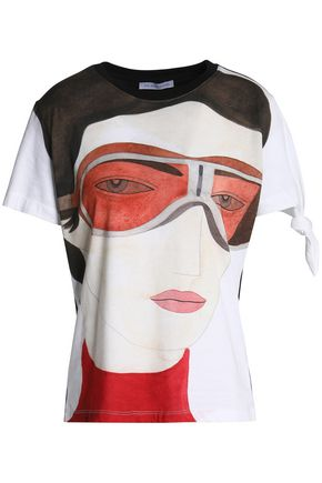 J.W.ANDERSON Kelly knotted printed cotton-jersey T-shirt
