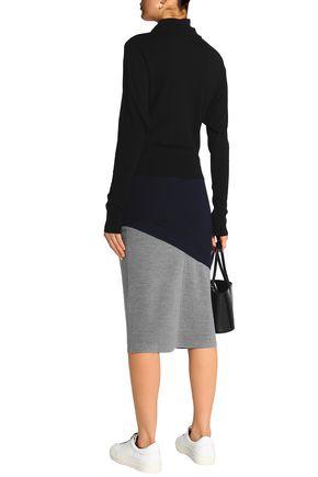 J.W.ANDERSON Layered two-tone wool-blend turtleneck midi dress