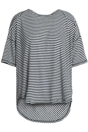 RAG & BONE Striped linen and modal-blend jersey top