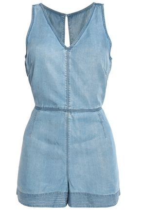 RAG & BONE Tie-back Tencel-chambray playsuit