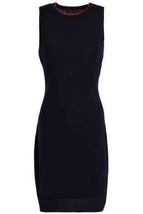 RAG & BONE Pointelle-knit merino wool-blend mini dress
