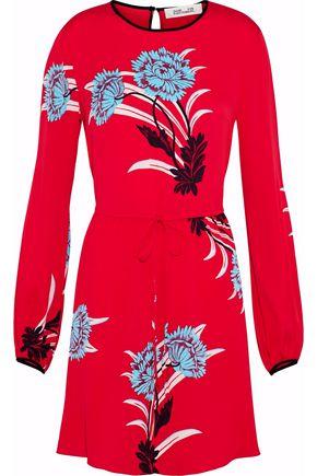 DIANE VON FURSTENBERG Floral-print silk-blend mini dress