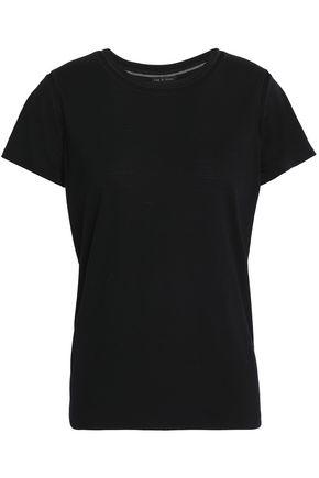 RAG & BONE Tulle-trimmed wool-jersey T-shirt