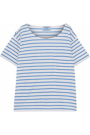 PRADA Striped cotton-jersey T-shirt