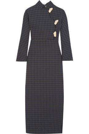 A.W.A.K.E. Striped twill midi dress