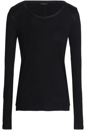 RAG & BONE Silk jersey top