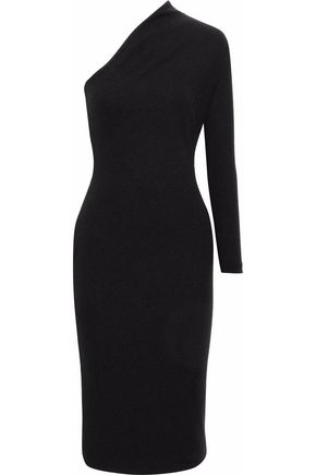 SOLACE LONDON One-shoulder crepe dress