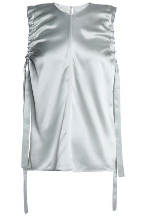 454cf550312 Ruched metallic silk-satin top | HELMUT LANG | Sale up to 70% off ...