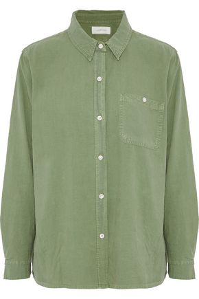 THE GREAT. The Campus washed cotton-poplin shirt