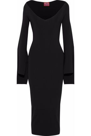 SOLACE LONDON Mila stretch-knit midi dress