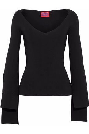 SOLACE LONDON Stretch-knit top