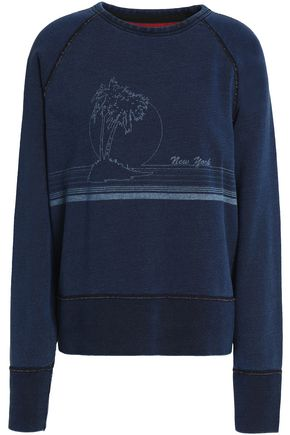 RAG & BONE/JEAN Printed French cotton-terry sweatshirt