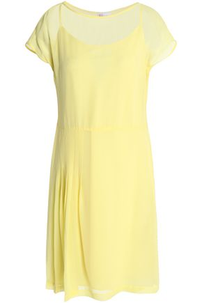 REDValentino Pleated silk-georgette mini dress
