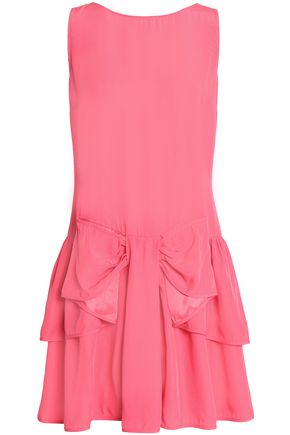 REDValentino Layered ruffled crepe mini dress