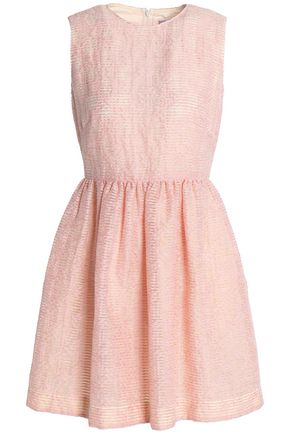 REDValentino Flared flocked gauze mini dress
