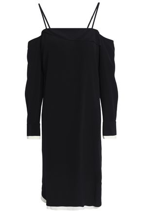 RAG & BONE Cold-shoulder crepe dress