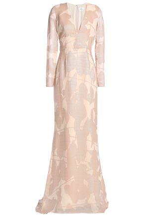 J.MENDEL Burnout-silk gown