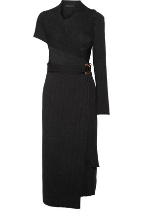 PROENZA SCHOULER Button-detailed knitted wrap dress