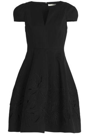 HALSTON HERITAGE Cotton and silk-blend dress