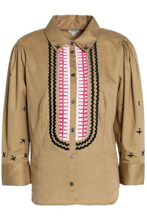 TEMPERLEY LONDON Embroidered cotton-poplin shirt