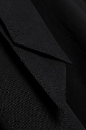 TEMPERLEY LONDON Cropped cutout belted cotton-blend gabardine jumpsuit