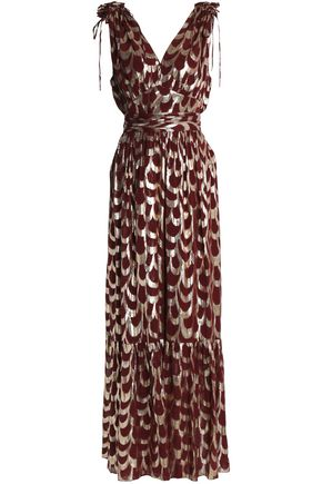 TEMPERLEY LONDON Metallic silk-blend jacquard gown