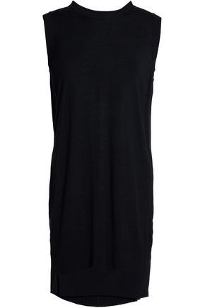 MM6 by MAISON MARGIELA Stretch-knit and pleated crepe mini dress