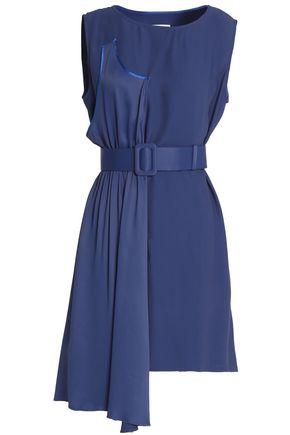 MM6 by MAISON MARGIELA Asymmetric belted cady dress