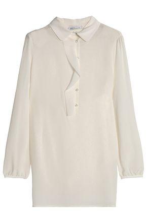 AGNONA Ruffle-trimmed silk crepe de chine blouse