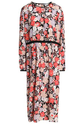 AGNONA Floral-print silk crepe de chine dress