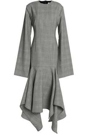 SOLACE LONDON Checked wool midi dress