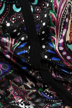 ROBERTO CAVALLI Paneled printed chenille cardigan