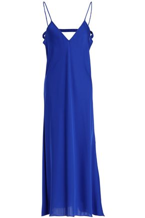 ELLERY Cutout satin midi dress