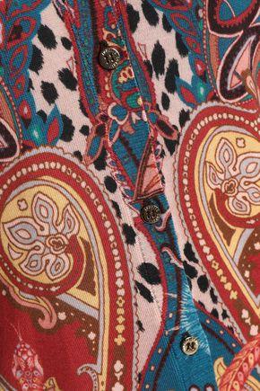 ROBERTO CAVALLI Printed wool, cashmere and silk-blend cardigan