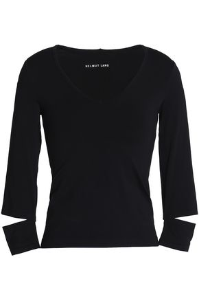HELMUT LANG Cutout stretch-knit top