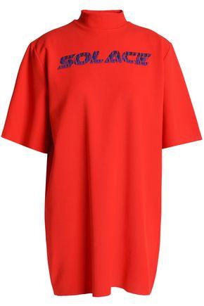 SOLACE LONDON Frayed stretch-jersey mini dress