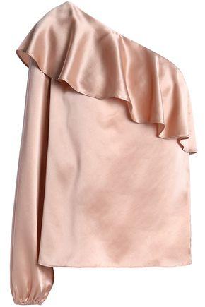 CAMI NYC One-shoulder silk-satin top