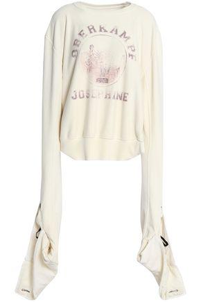 MAISON MARGIELA Gathered printed cotton-terry sweatshirt