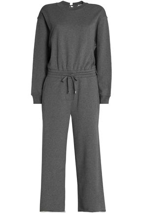 T by ALEXANDER WANG Mélange French cotton-terry jumpsuit