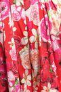 ISOLDA Gloria pleated floral-print stretch-silk playsuit
