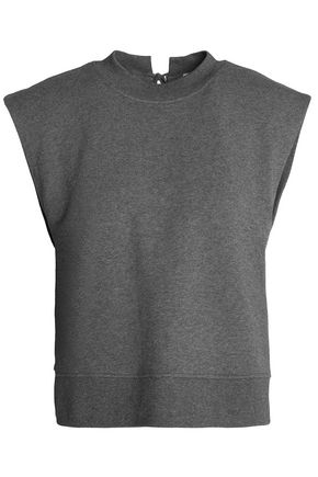 T by ALEXANDER WANG French cotton-terry top