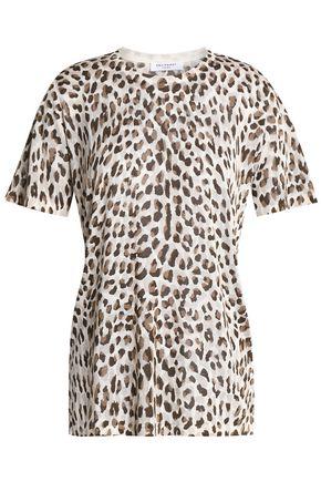 EQUIPMENT Leopard-print silk top