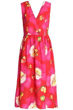 ISOLDA Floral-print linen midi dress