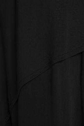 TART COLLECTIONS Wrap-effect stretch-jersey slip dress