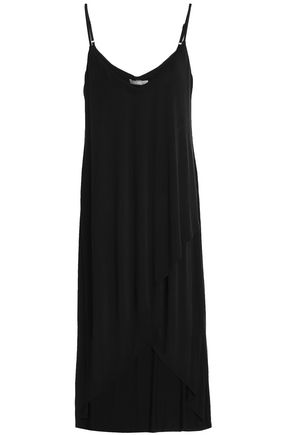 TART COLLECTIONS Wrap-effect stretch-jersey slip dress